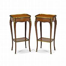 Paire de tables de salon de style Louis XV par KRI