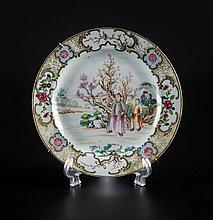 Assiette en porcelaine chinoise époque Qianlong le