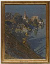 Paul Auguste PERRELET (1870-1965) Vue d'Yvoire hui