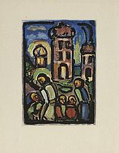 Rouault (1871-1958) Le Christ et Mammon et Christ