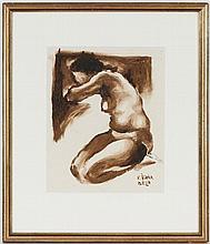 Béla Kadar (1877-1956) Nu féminin aquarelle signée