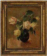 Henri FEHR (1890-1974) Bouquet de roses huile sur
