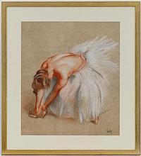 Henri FEHR (1890-1974) Femme à la robe blanche aju