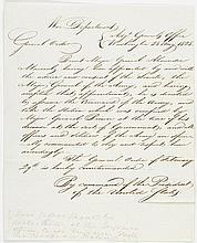 Lettre manuscrite issue du Département ...