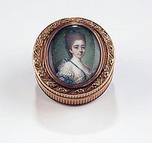Portrait    miniature sur ivoire ...
