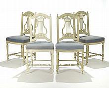 Suite de 4 chaises d'époque Louis ...