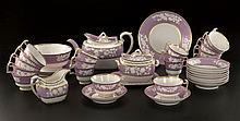 Service à thé en porcelaine de la manufacture ...