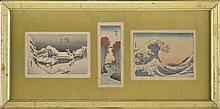 3 reproductions miniatures d'estampes ...