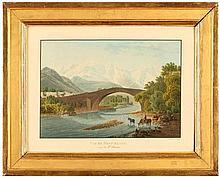 Franz Hegi (1774-1850)   Vue du Mont-Blanc ...