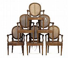 Suite de 6 fauteuils cabriolets ...