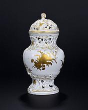 Pot pourri balustre en porcelaine ...