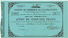 Société de Commerce de San-Francisco Compagnie Francaise, Belge et Allemande