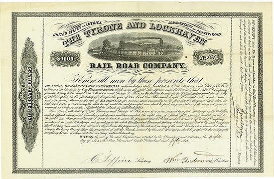 Tyrone and Lockhaven Railroad