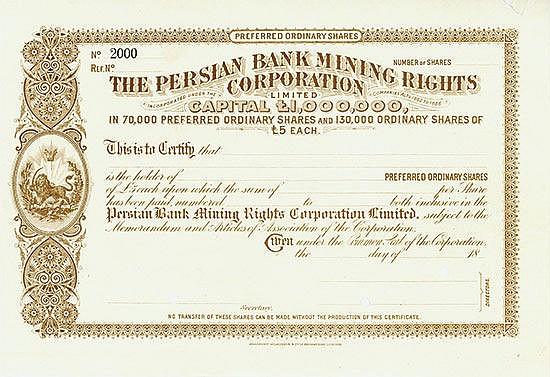 Persian Bank Mining Rights Corporation