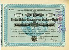 Bielitz-Bialaer Escompte- und Wechsler-Bank