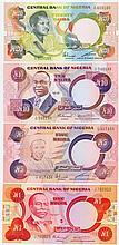 Nigeria - Central Bank of Nigeria - Pick 19a, Pick 20c, Pick 21a, Pick 26a [4 Stück]