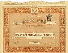 Compagnie des Caoutchoucs de l'Orénoque Société Anonyme [2 Stück]
