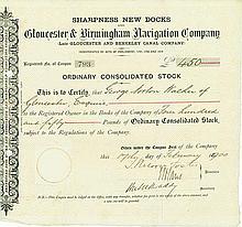 Sharpness New Docks and Gloucester & Birmingham Navigation Company (Late Glouecester and Berkeley Canal Company)