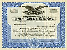 Personal Airplane Sales Corp.