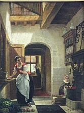 Continental School (19th century) 'A Kitchen
