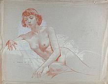 Vernon Beauvoir Ward (1905-1985) 'A Life Drawing,