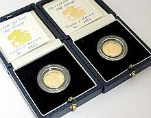 An Elizabeth II proof half sovereign dated 1990,