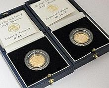 An Elizabeth II proof half sovereign, dated 1995,