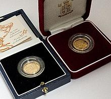 An Elizabeth II proof half sovereign, dated 1999,