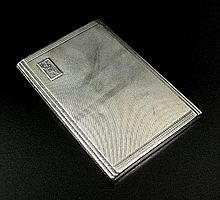 A silver cigarette case, Mappin & Webb, Birmingham