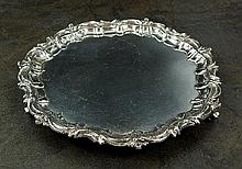 An Edwardian silver salver, W & C Sissons, London