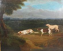 James Smyth (1780-1843) 'Sporting Dogs Pointing in