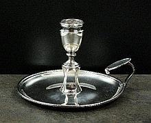 A George III silver chamberstick, John Emes,