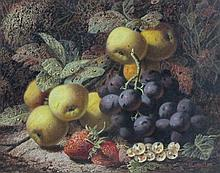 Oliver Clare (1853-1927) 'Still Life of Plums,