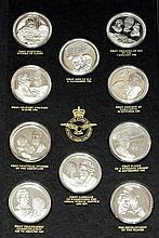 Fifty silver medals by John Pinches; 'The History