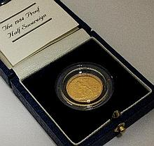 An Elizabeth II proof half sovereign, dated 1984,
