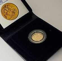 An Elizabeth II proof half sovereign, dated 1982,