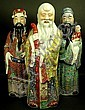 Three Chinese polychrome porcelain figures of the