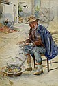 Felix Mescheles 'Study of a seated man with