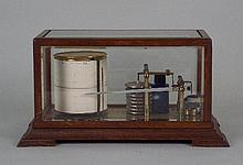 An early 20th century oak barograph by Richard