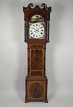 An early 19th century oak and mahogany eight day