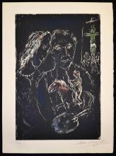 Marc Chagall. Le Peintre Sur Fond Noir