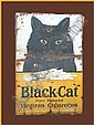 Old enamelled advertising sign for Black Cat cigarettes