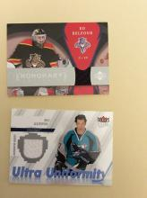 (2) Hockey Trading Cards (Game Worn Jersey Cards)