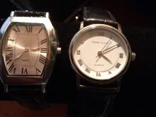 (2) Men's Estate Jewelry wrist Watches Perry Ellis and SKC