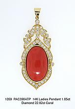 14K Ladies Ring 3.02ct Diamond 4.16ct E. Ruby
