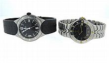 Ebel Stainless Steel Watch Lot of 2