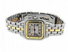 Cartier Panthere 18k Gold Stainless Steel Watch