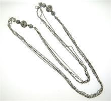 David Yurman Quatrefoil Sterling Diamond Pearl Long Necklace
