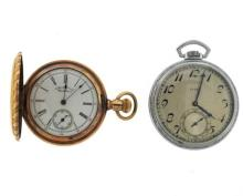 American Waltham Elgin Pocket Watch Lot of 2