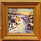 Christopher Willett Oil Landscape Painting Miniature